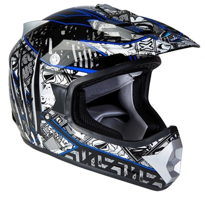 Шлем GEON 623 Кросс Score черный-синий