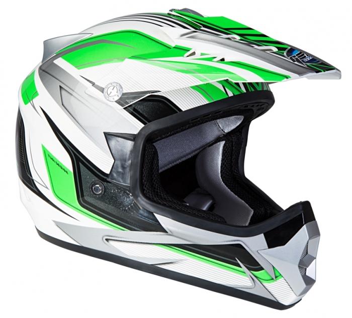 Шлем GEON 623 Кросс Vector белый-зеленый
