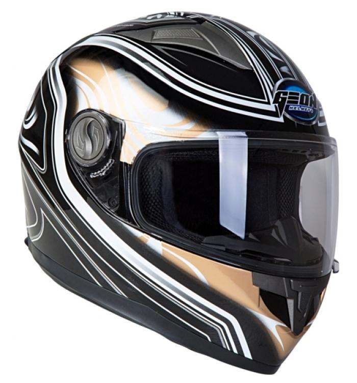 Шлем GEON 968 Интеграл Flame черный-бронза