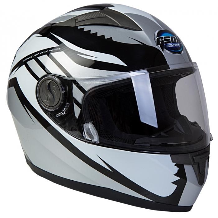 Шлем GEON 968 Интеграл Race черный-серый
