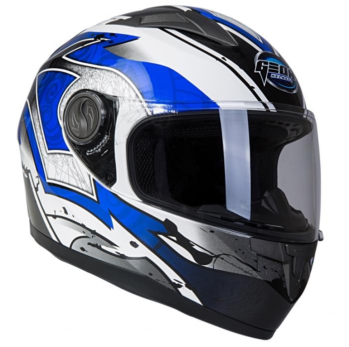 Шлем GEON 968 Интеграл Swift белый-синий