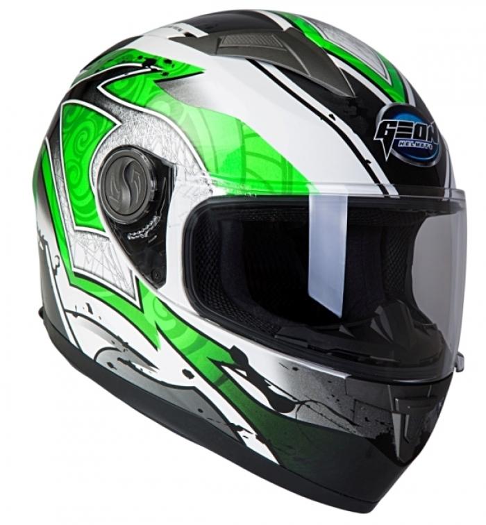 Шлем GEON 968 Интеграл Swift белый-зеленый