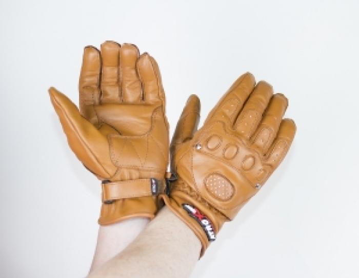 Мотоперчатки кожаные Atrox CLASSIC CHOPPER BROWN