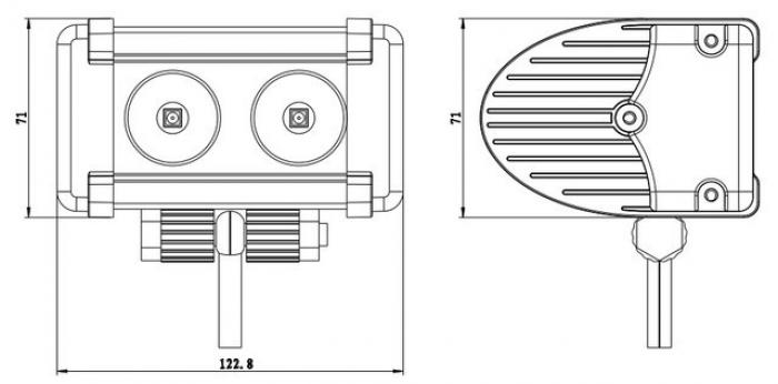 Фара, прожектор для квадроцикла, UTV