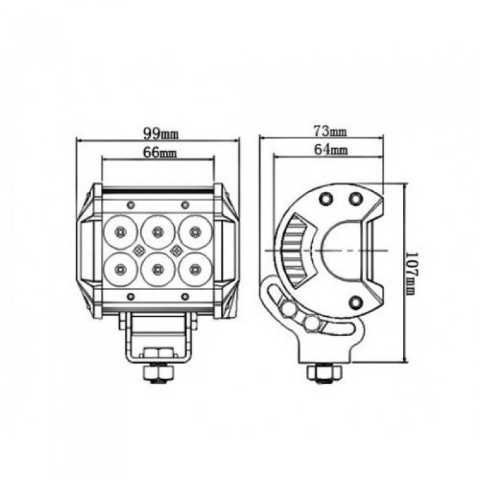 Фара, прожектор для квадроцикла