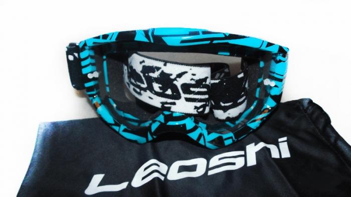 Кроссовые очки Leoshi Blue Black