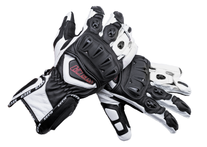 Мотоперчатки Seca Atom II white