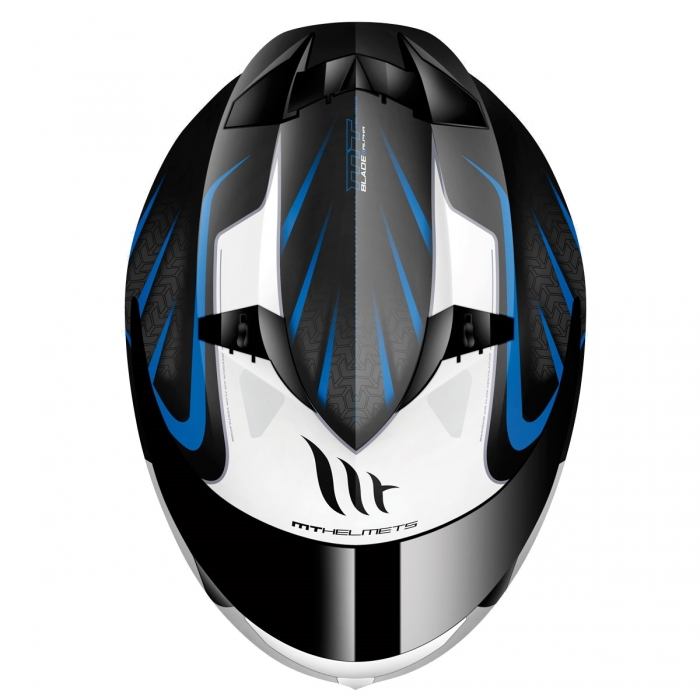 MT Helmets BLADE SV Alpha gloss black/white/blue