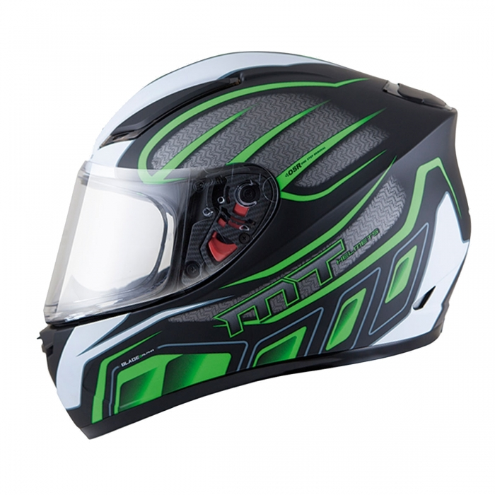MT Helmets BLADE SV Alpha gloss black/white/fluor green