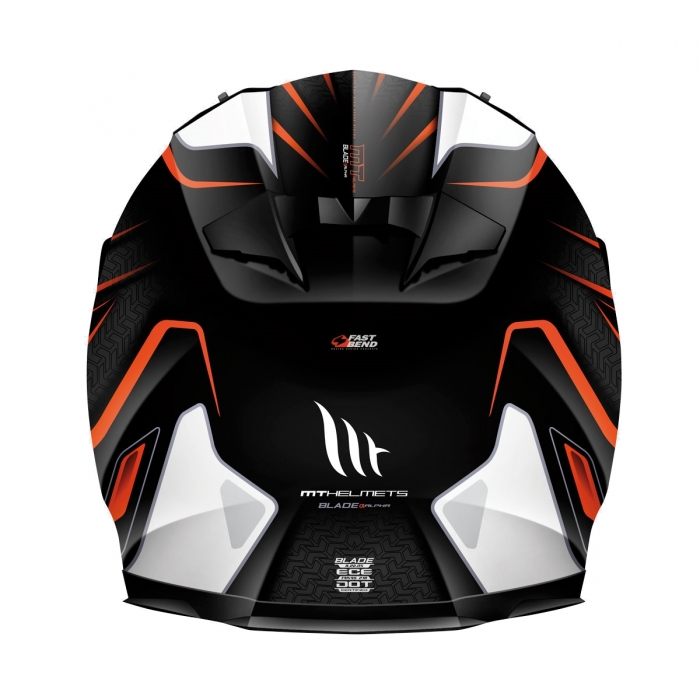 MT Helmets BLADE SV Alpha gloss black/white/fluor orange