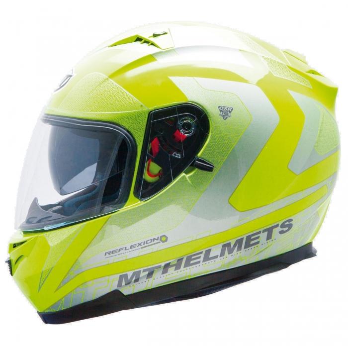 MT Helmets BLADE SV REFLEXION fluor yellow