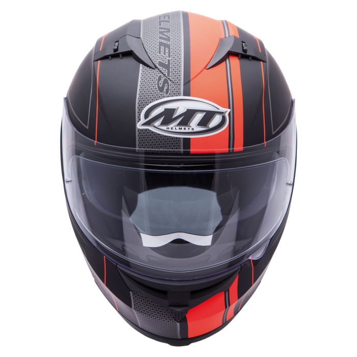 MT Helmets BLADE SV Solid matt black/orange