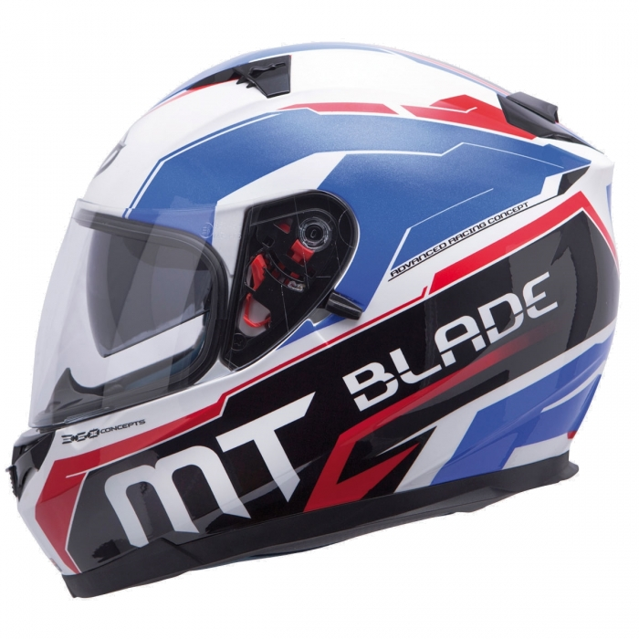 MT Helmets BLADE SV SUPER R white/blue/red