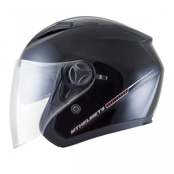 MT Helmets Bolevard Solid black