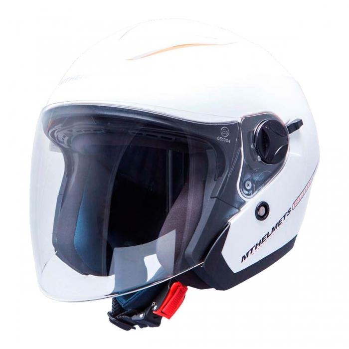 MT Helmets Bolevard Solid white украина купить