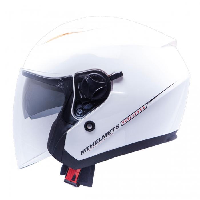 MT Helmets Bolevard Solid white