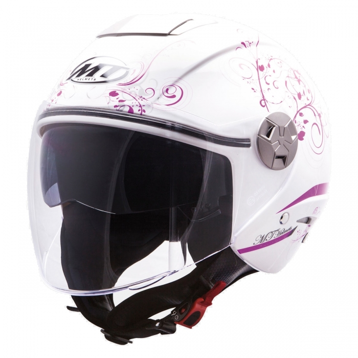 MT Helmets City Eleven Bella white/purple купить киев