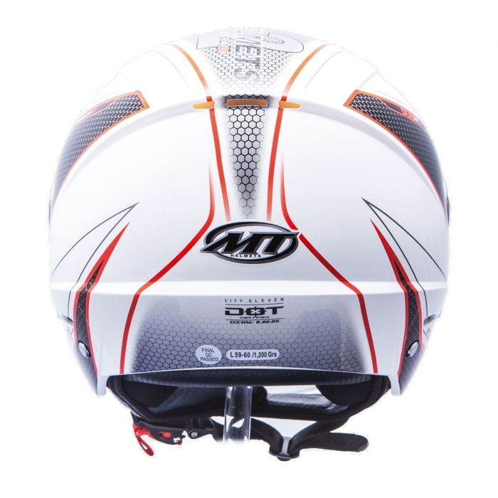 MT Helmets City Eleven Dynamic white/red цена