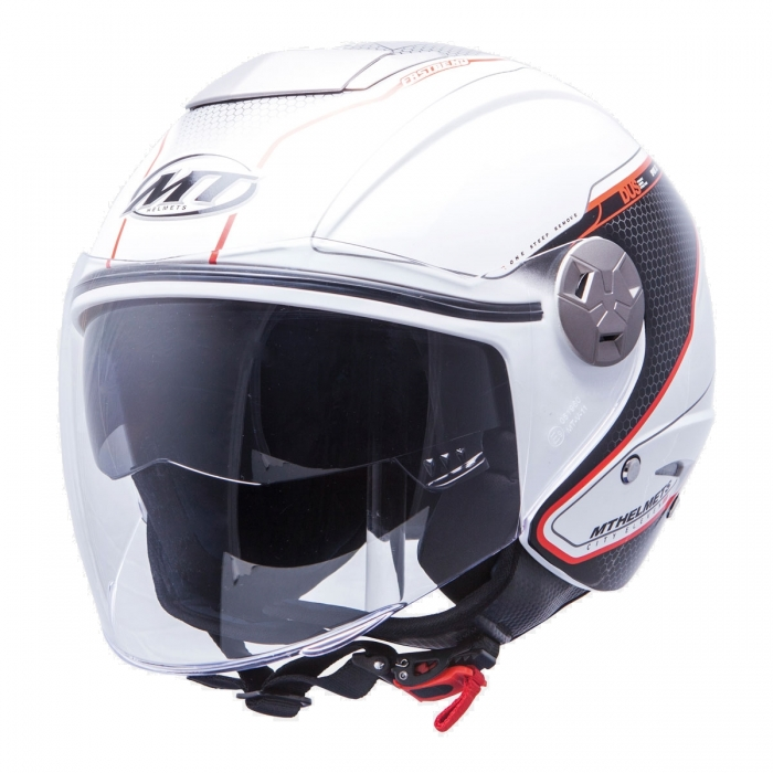 MT Helmets City Eleven Dynamic white/red украина