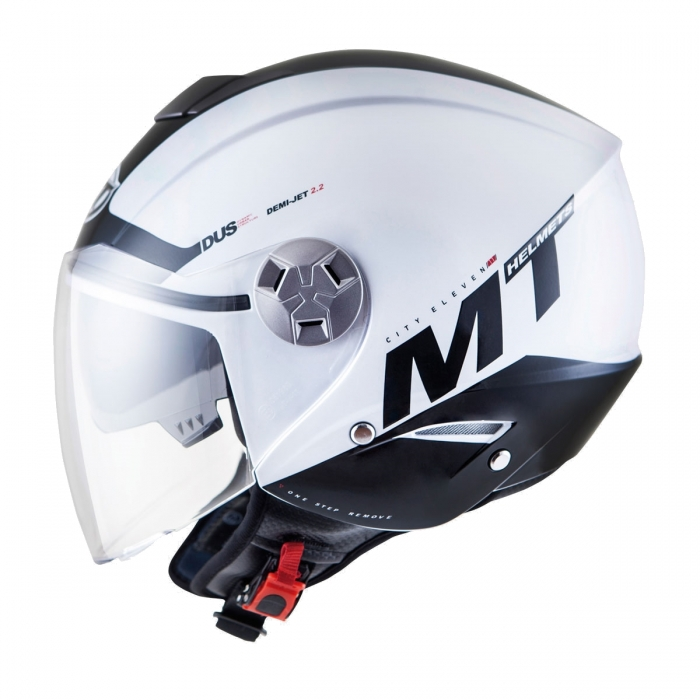 MT Helmets City Eleven Smart gloss pearl white/black