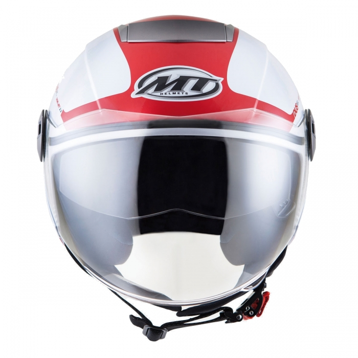 MT Helmets City Eleven Smart gloss pearl white/red характеристики
