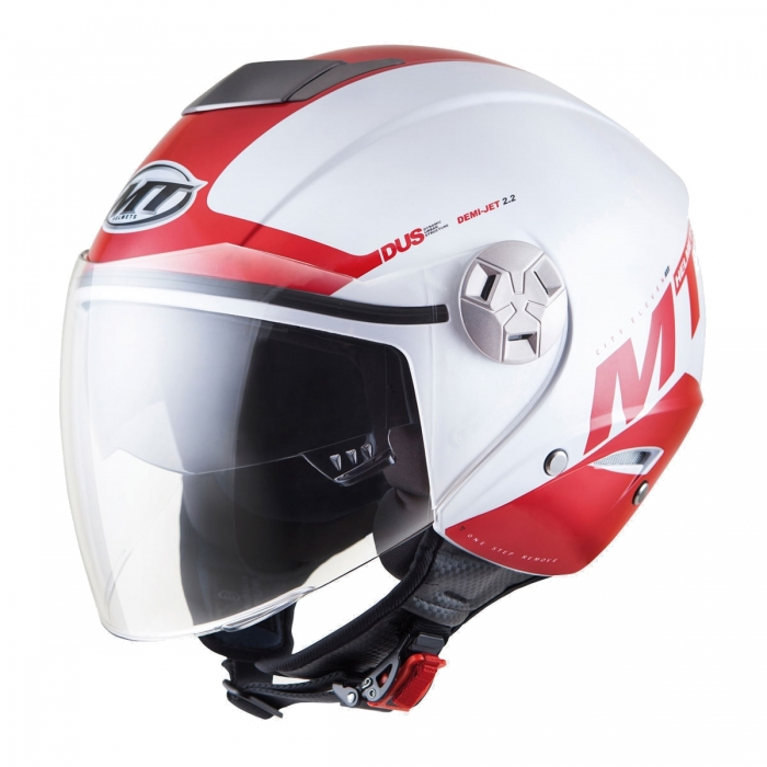MT Helmets City Eleven Smart gloss pearl white/red купить
