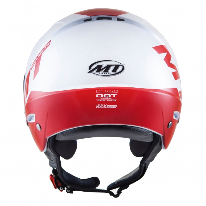 MT Helmets City Eleven Smart gloss pearl white/red цена