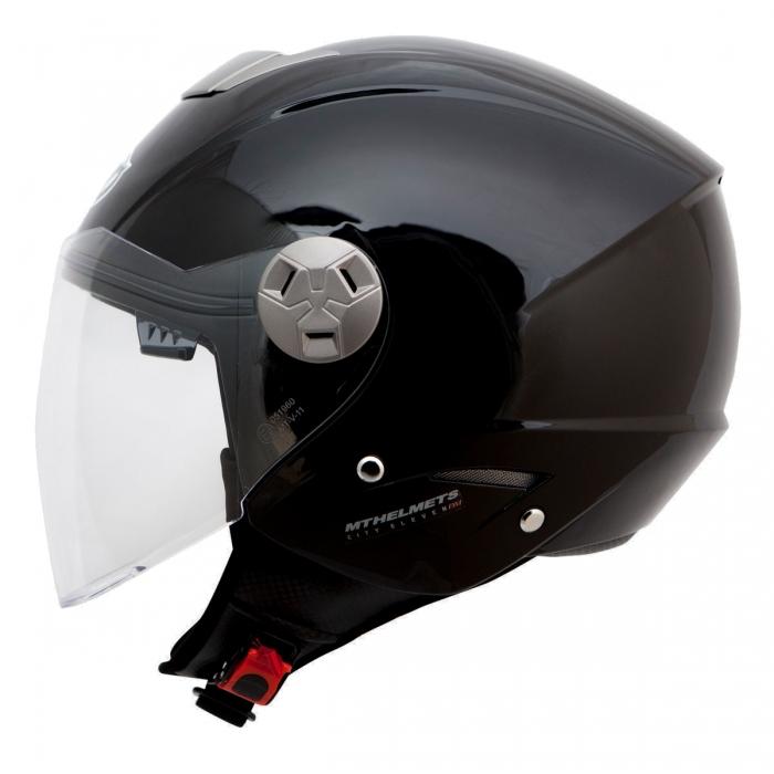 MT Helmets City Eleven Solid black