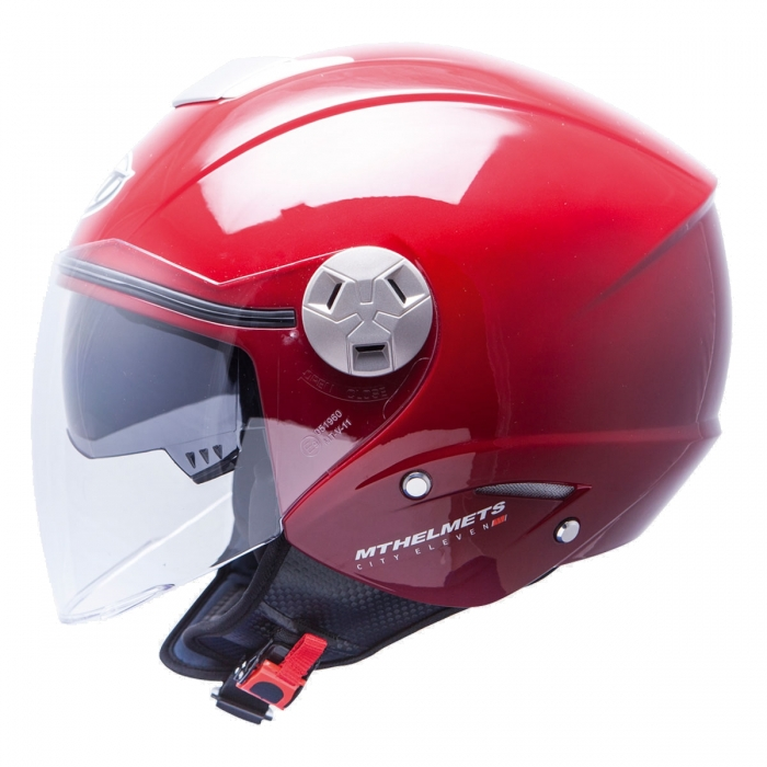 MT Helmets City Eleven Solid burdeos