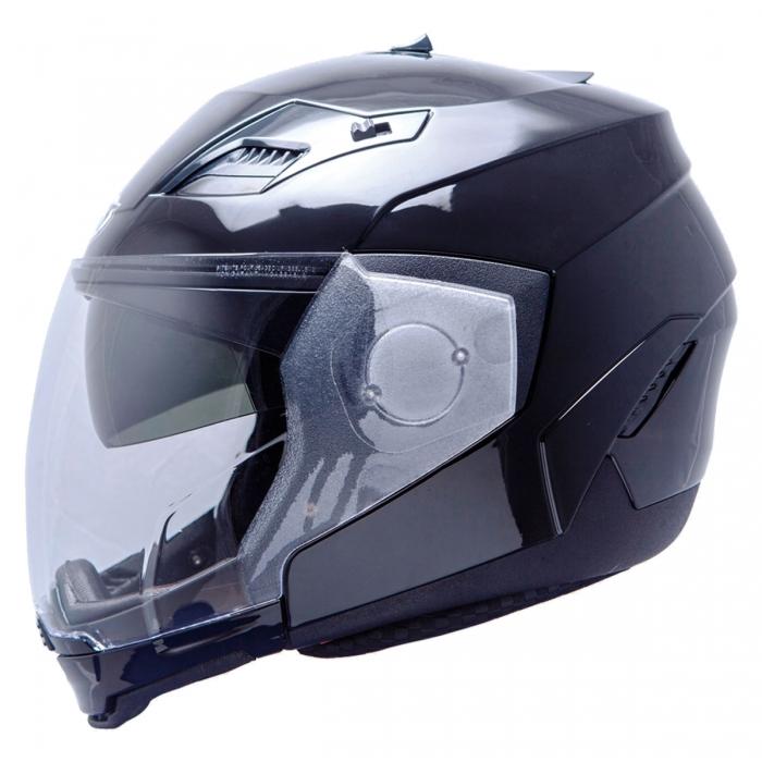 MT Helmets Convert Solid black