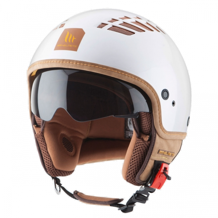 MT Helmets Cosmo Solid pearl white цена