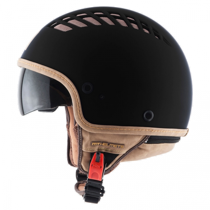 MT Helmets Cosmo Solid rubber black