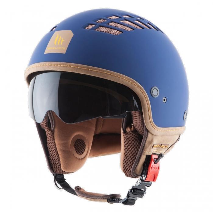 MT Helmets Cosmo Solid rubber blue купить шлем украина