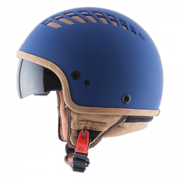 MT Helmets Cosmo Solid rubber blue