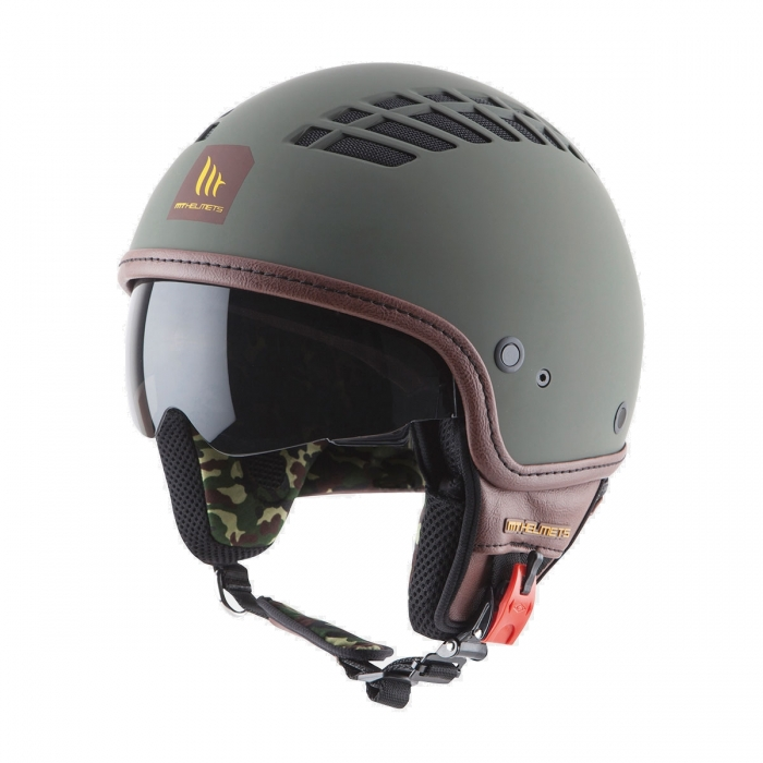 Купить шлем MT Helmets Cosmo Solid rubber green military в украине