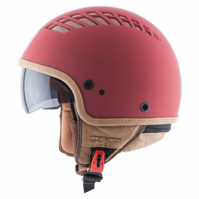 MT Helmets Cosmo Solid rubber red