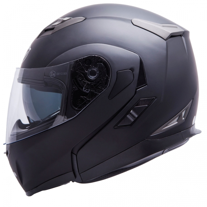 MT Helmets Flux Solid matt black