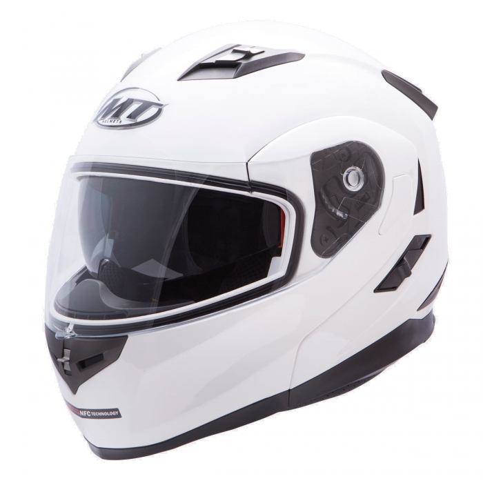 MT Helmets Flux Solid white купить