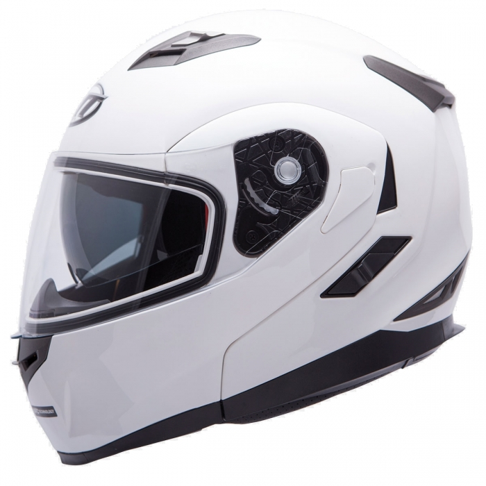 MT Helmets Flux Solid white