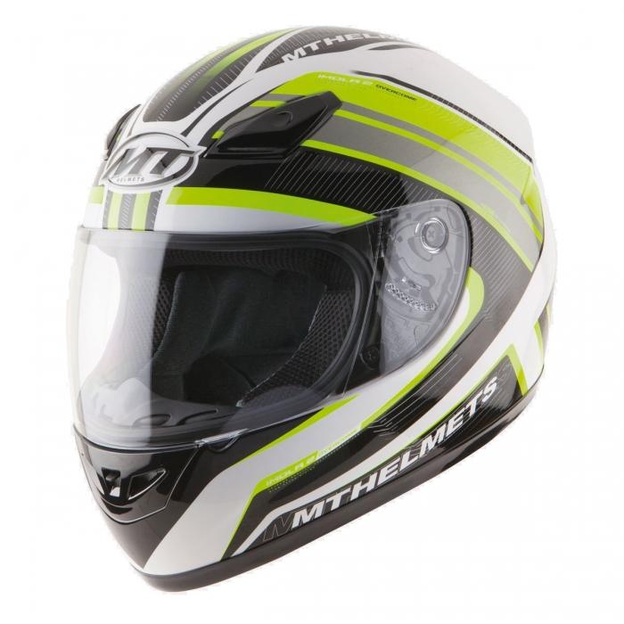 MT Helmets Imola 2 Overcome matt white/fluor yellow