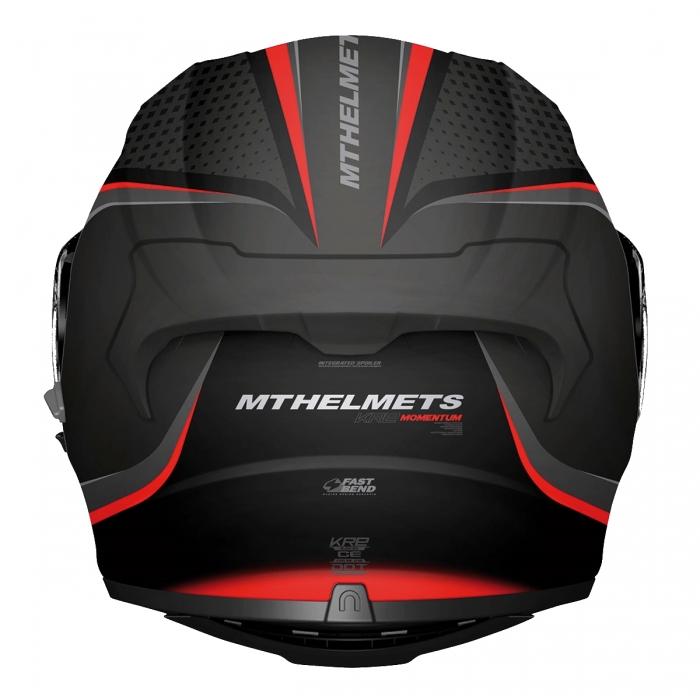 MT Helmets KRE SV MOMENTUM matt black/anthracite/red