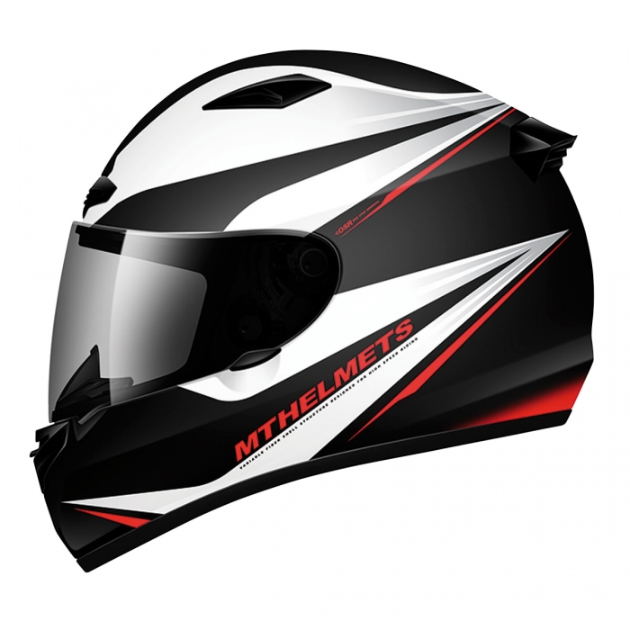 MT Helmets MATRIX Incisor black/white/red