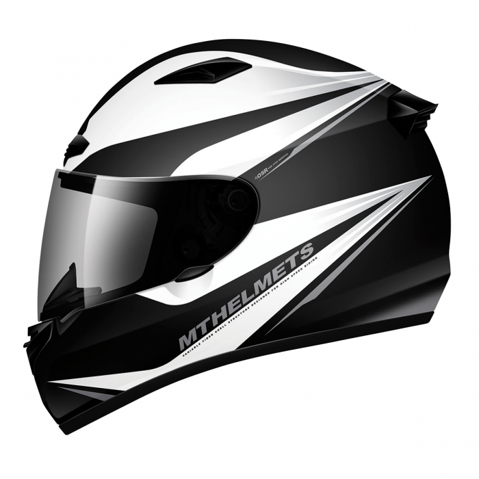MT Helmets MATRIX Incisor gloss black/white/silver