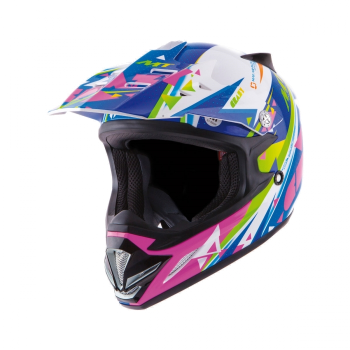 Детский шлем MT Helmets MX2 kids Crazy multicolor