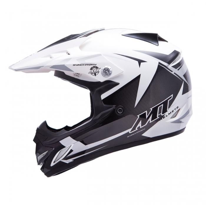 MT Helmets MX2 Synhrony Steel white/grey