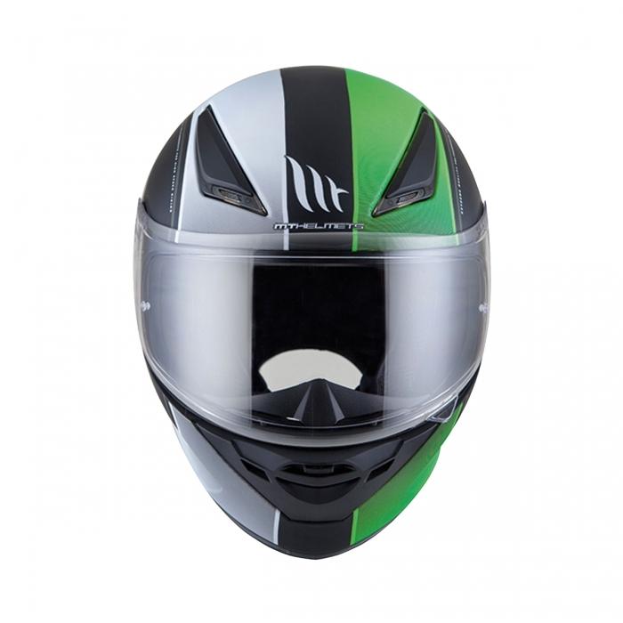 MT Helmets REVENGE Binomy black/white/fluo green