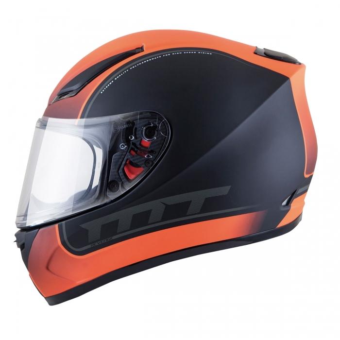MT Helmets REVENGE Binomy black/white/fluo orange