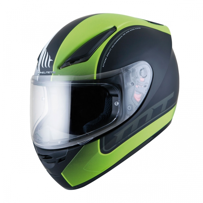 MT Helmets REVENGE Binomy black/white/fluo yellow