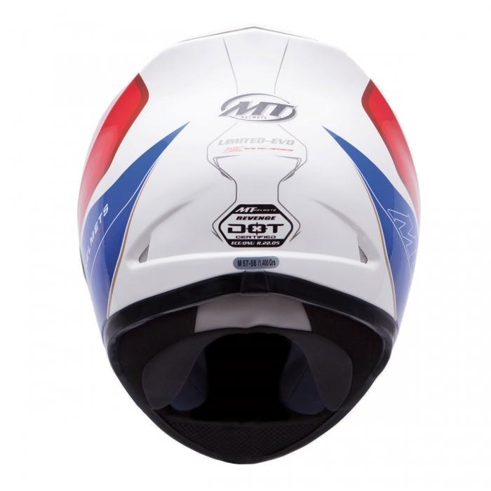 MT Helmets REVENGE LIMITED-EVO white/blue/red