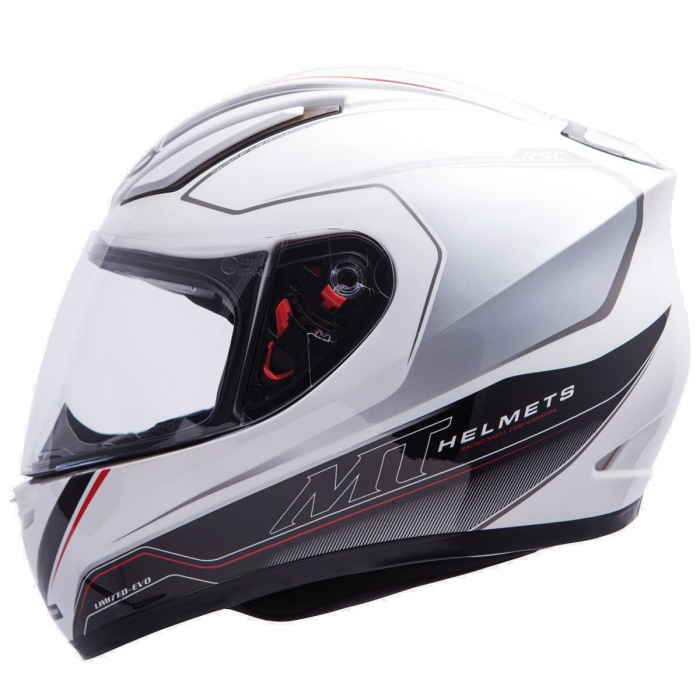 MT Helmets REVENGE LIMITED-EVO white/grey